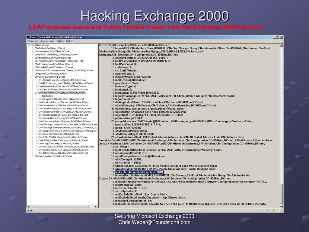 Hacking Exchange 2000