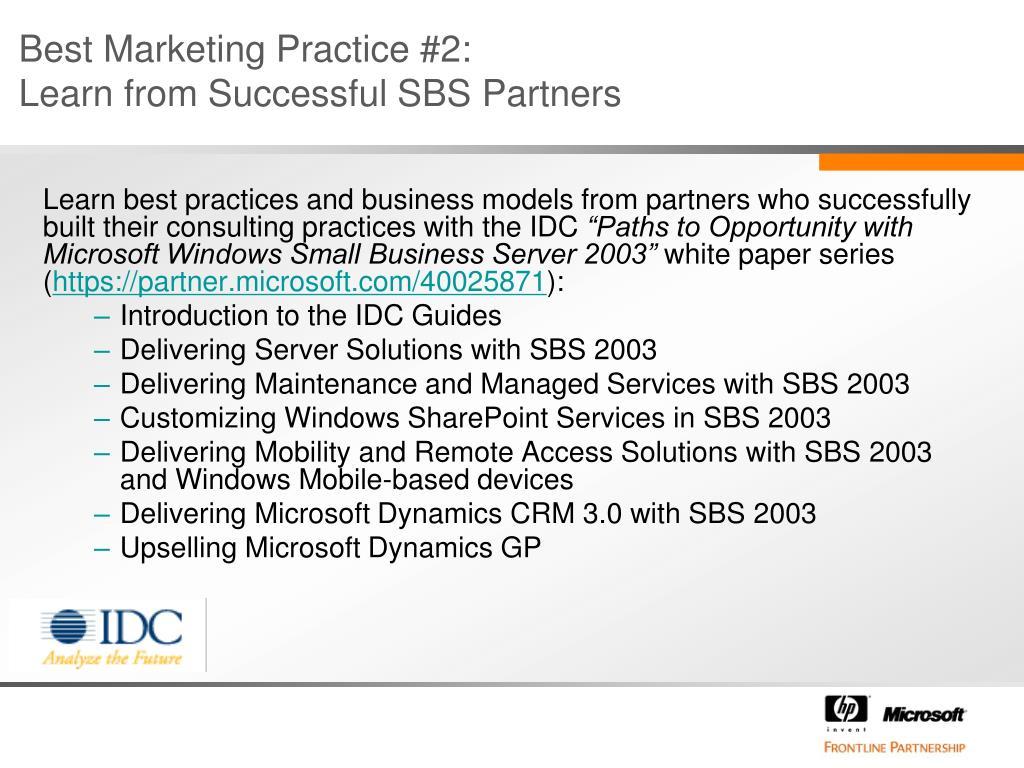 Best Marketing Practice #2:
