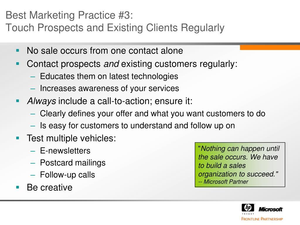 Best Marketing Practice #3: