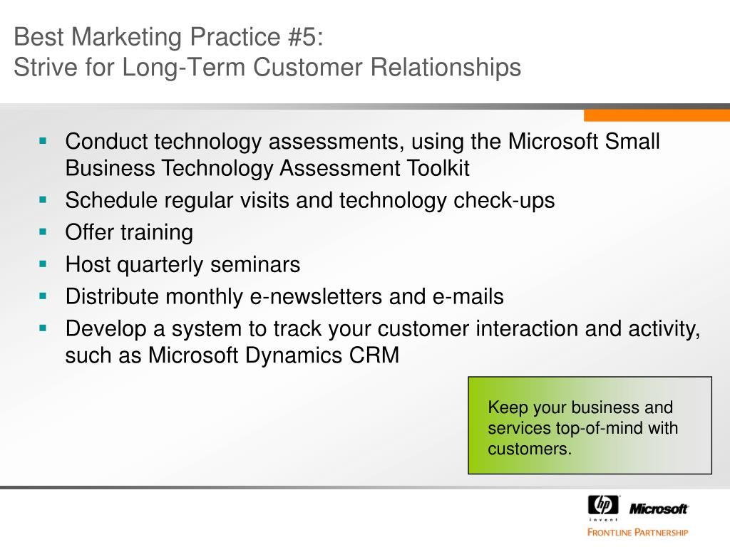 Best Marketing Practice #5: