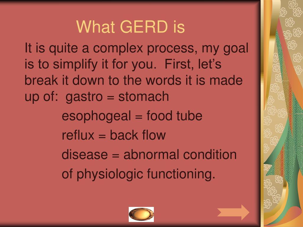 What GERD is