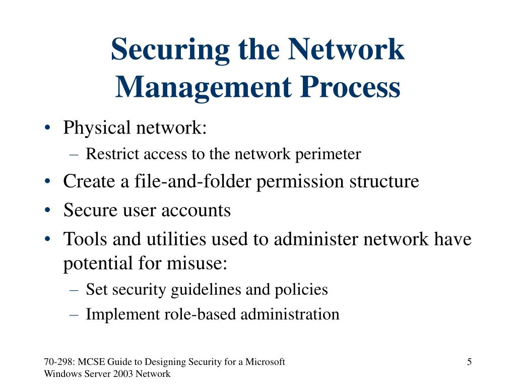 Securing the Network