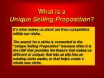what is a unique selling proposition