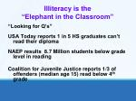 illiteracy is the elephant in the classroom