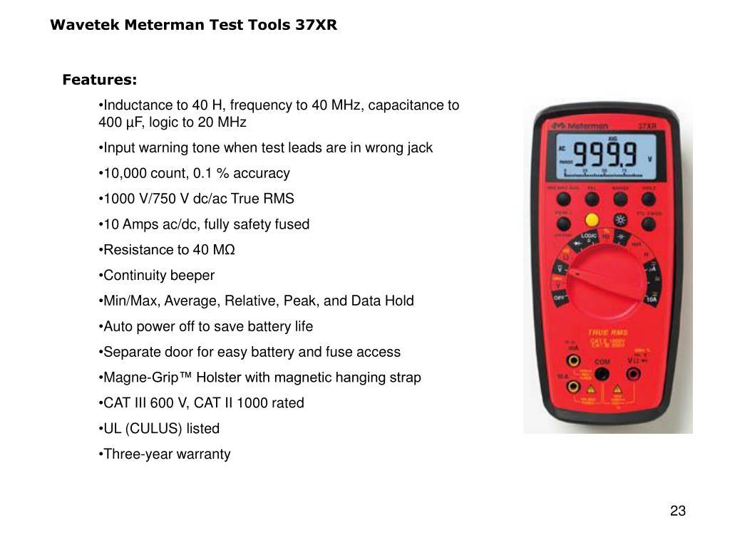 Wavetek Meterman Test Tools 37XR