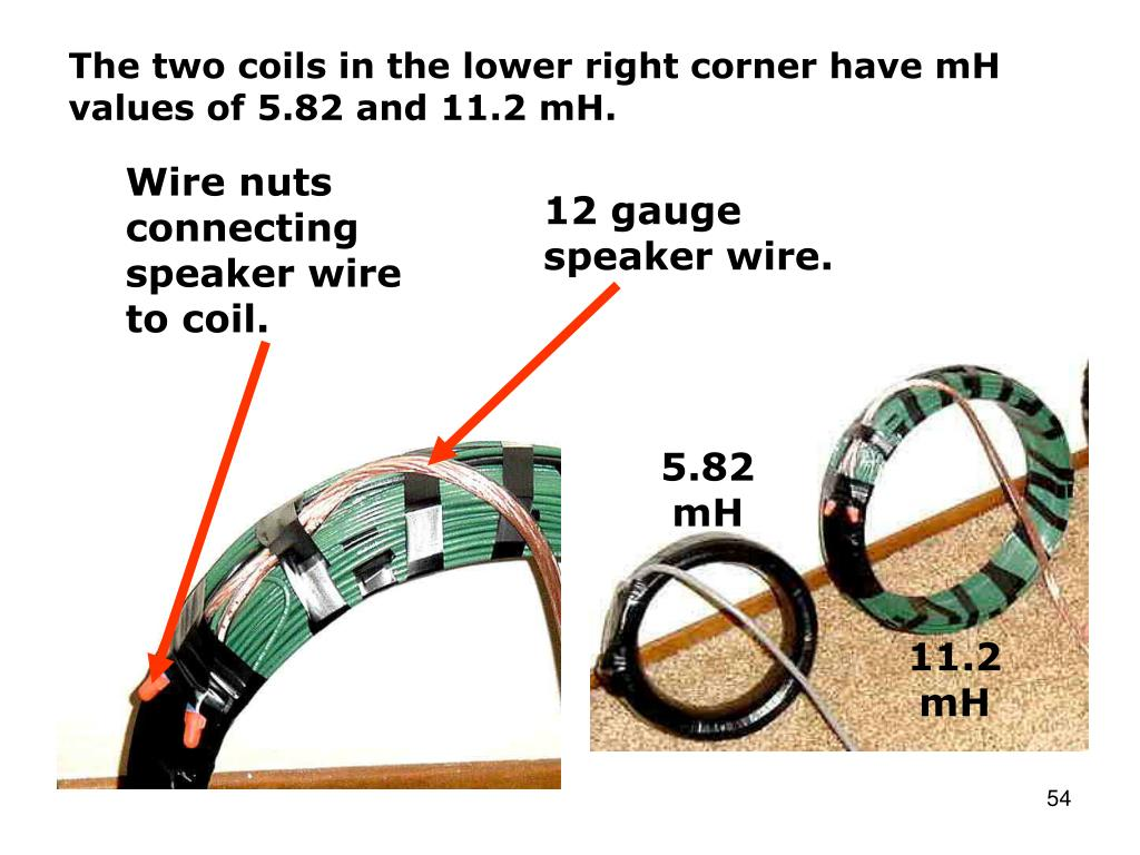 The two coils in the lower right corner have mH values of 5.82 and 11.2 mH.