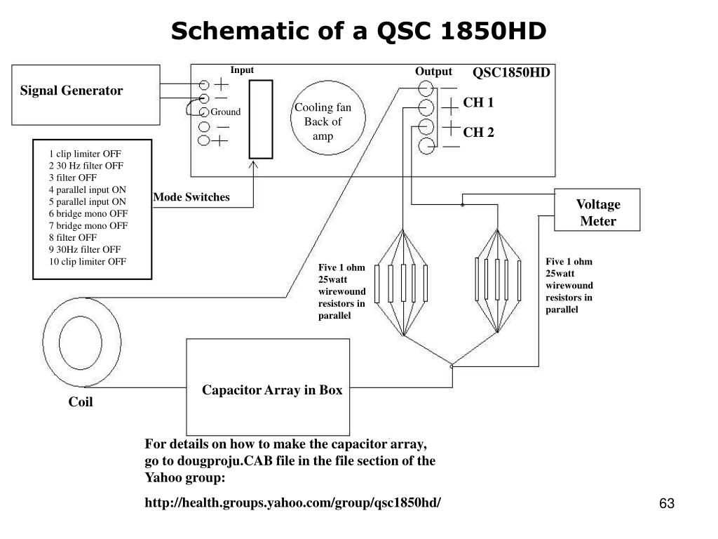 Schematic of a QSC 1850HD