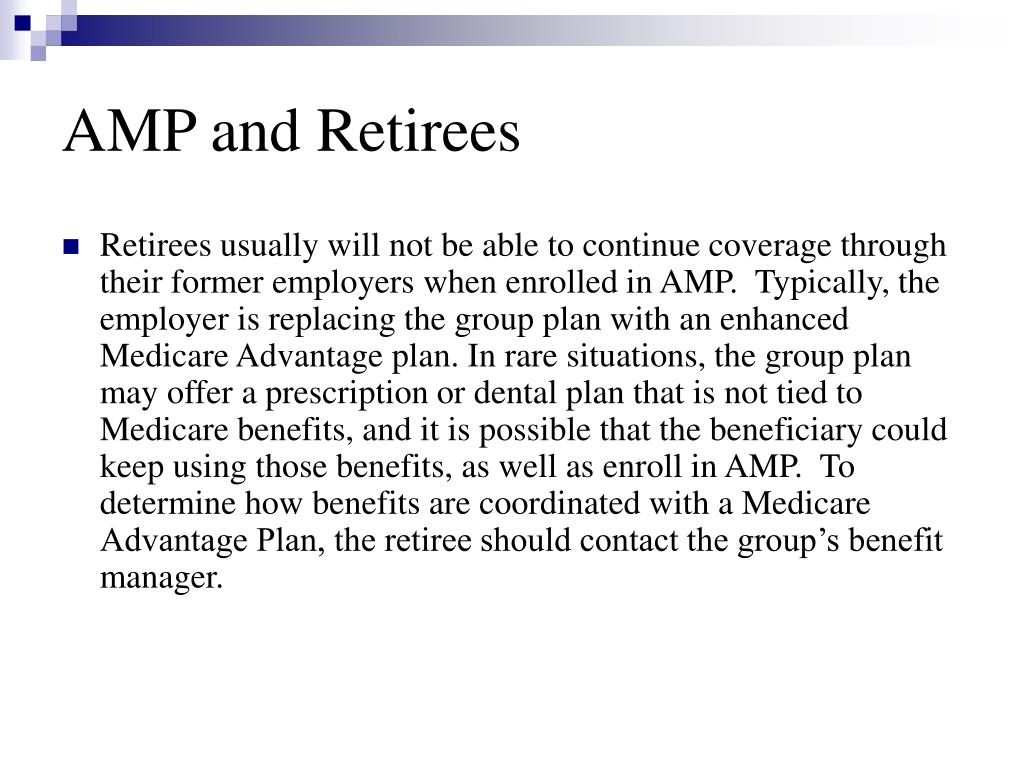 AMP and Retirees