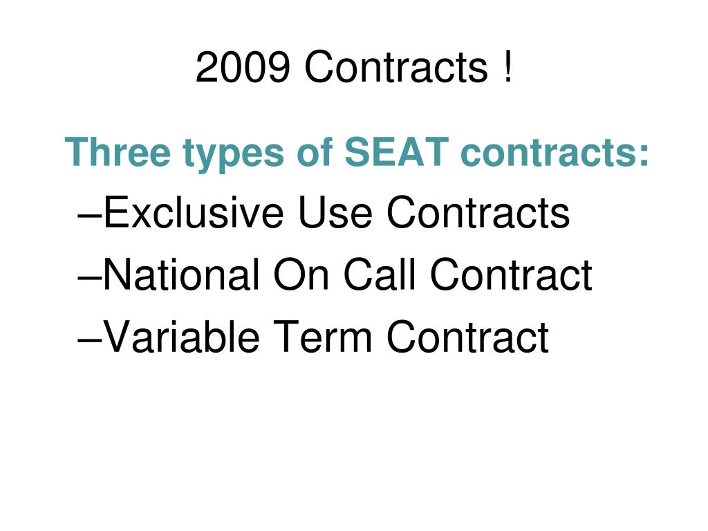 2009 Contracts !