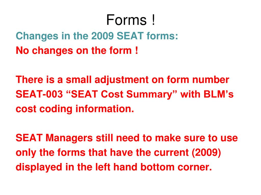 Forms !