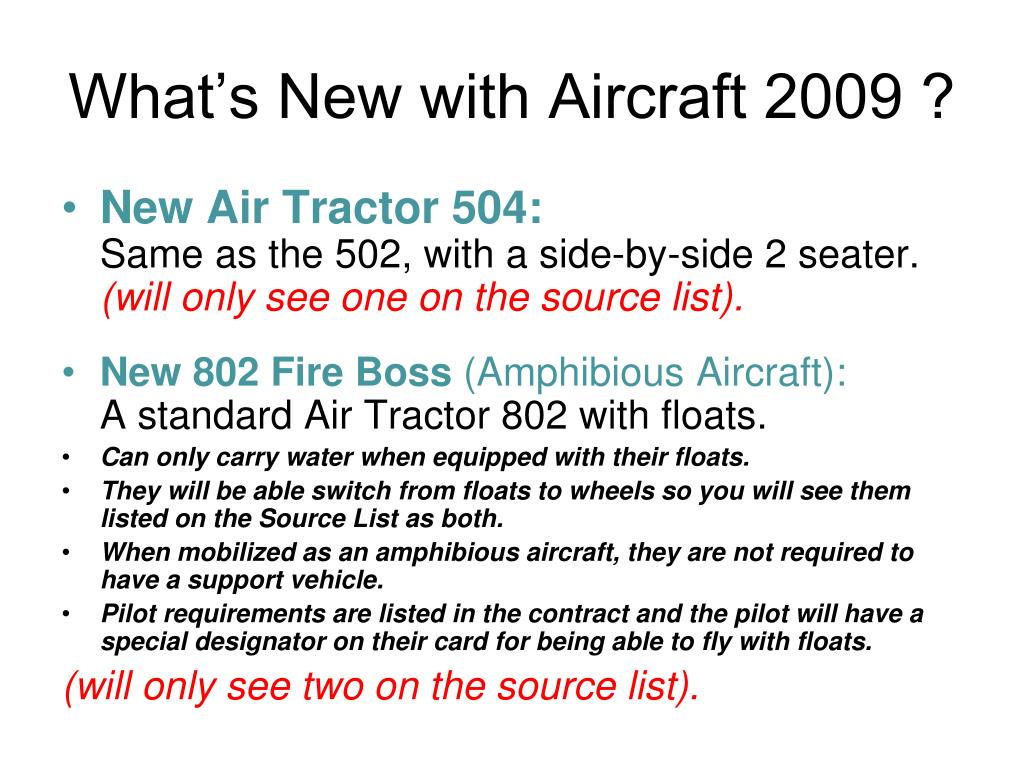 What's New with Aircraft 2009 ?