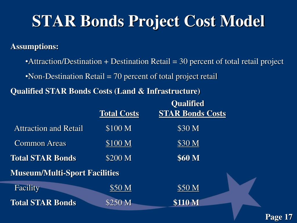 STAR Bonds Project Cost Model