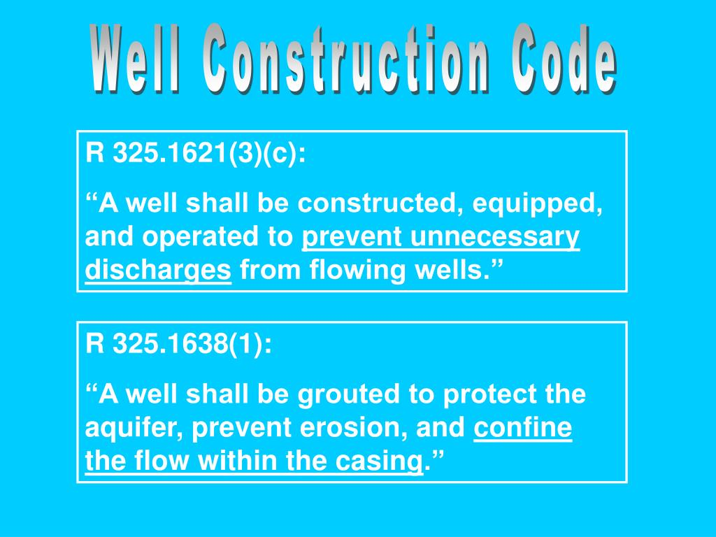 Well Construction Code