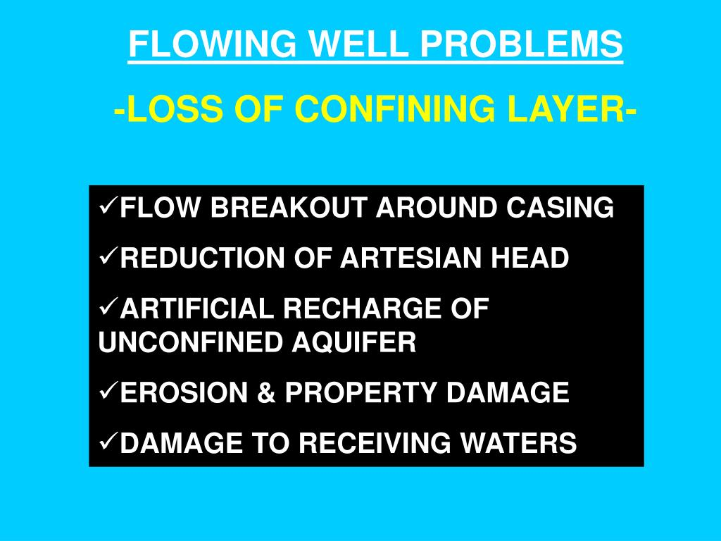 FLOWING WELL PROBLEMS