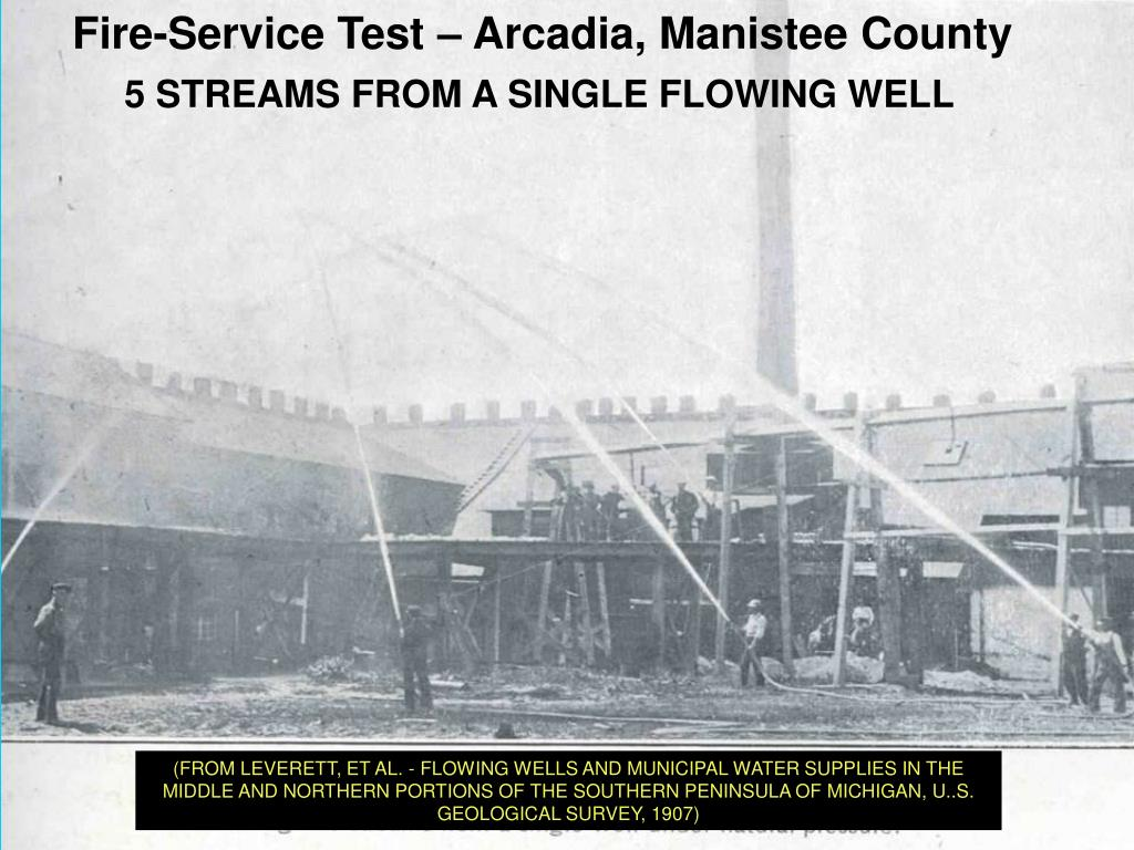 Fire-Service Test – Arcadia, Manistee County