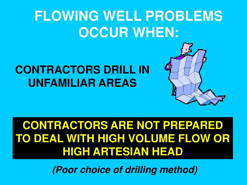 FLOWING WELL PROBLEMS OCCUR WHEN: