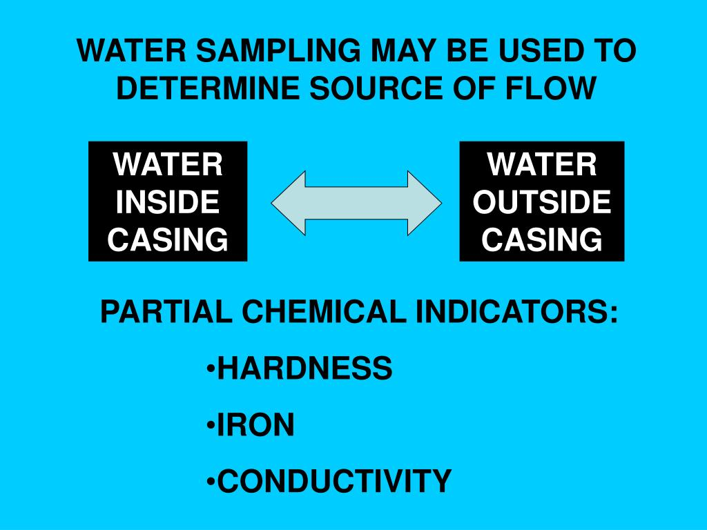 WATER SAMPLING MAY BE USED TO DETERMINE SOURCE OF FLOW