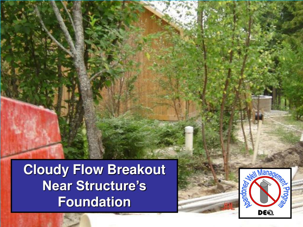 Cloudy Flow Breakout Near Structure's Foundation