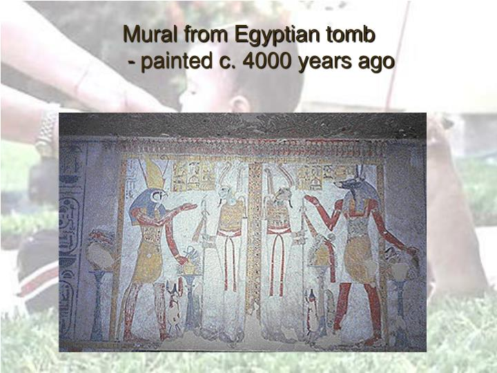 Mural from Egyptian tomb