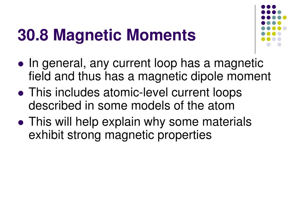 30.8 Magnetic Moments