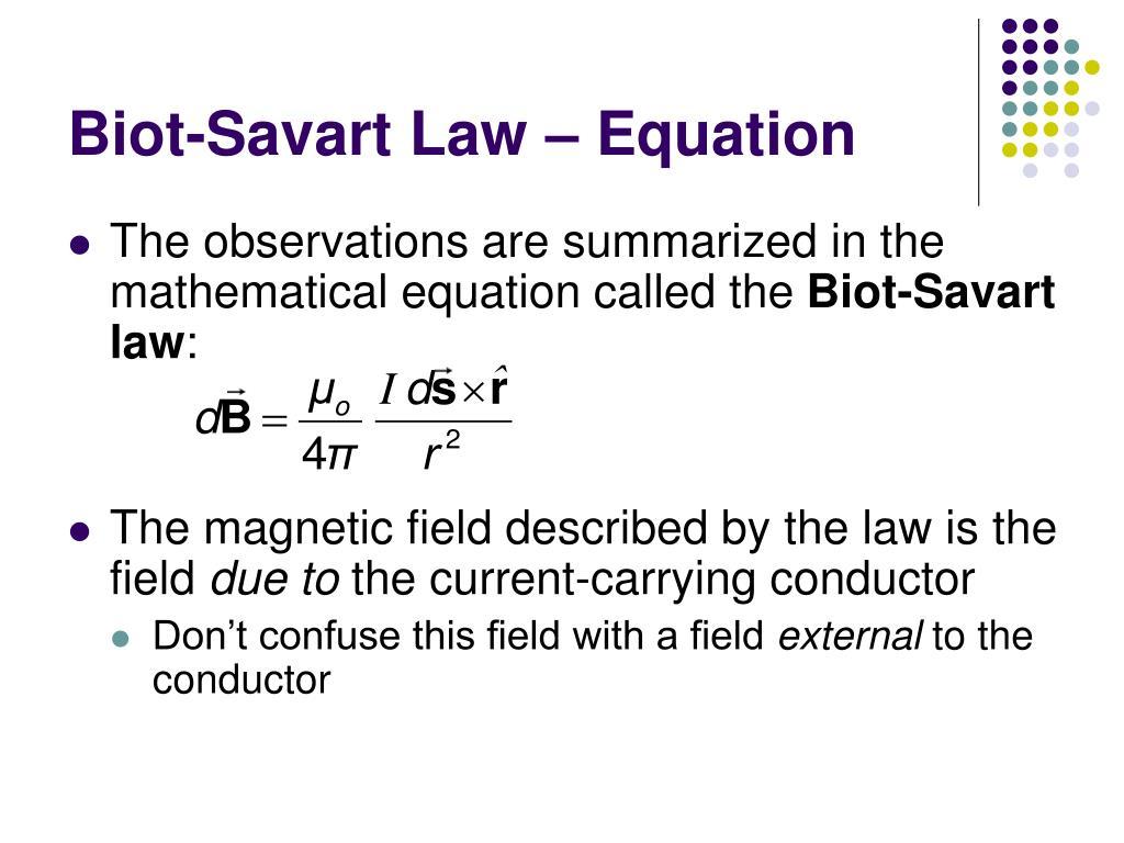 Biot-Savart Law – Equation