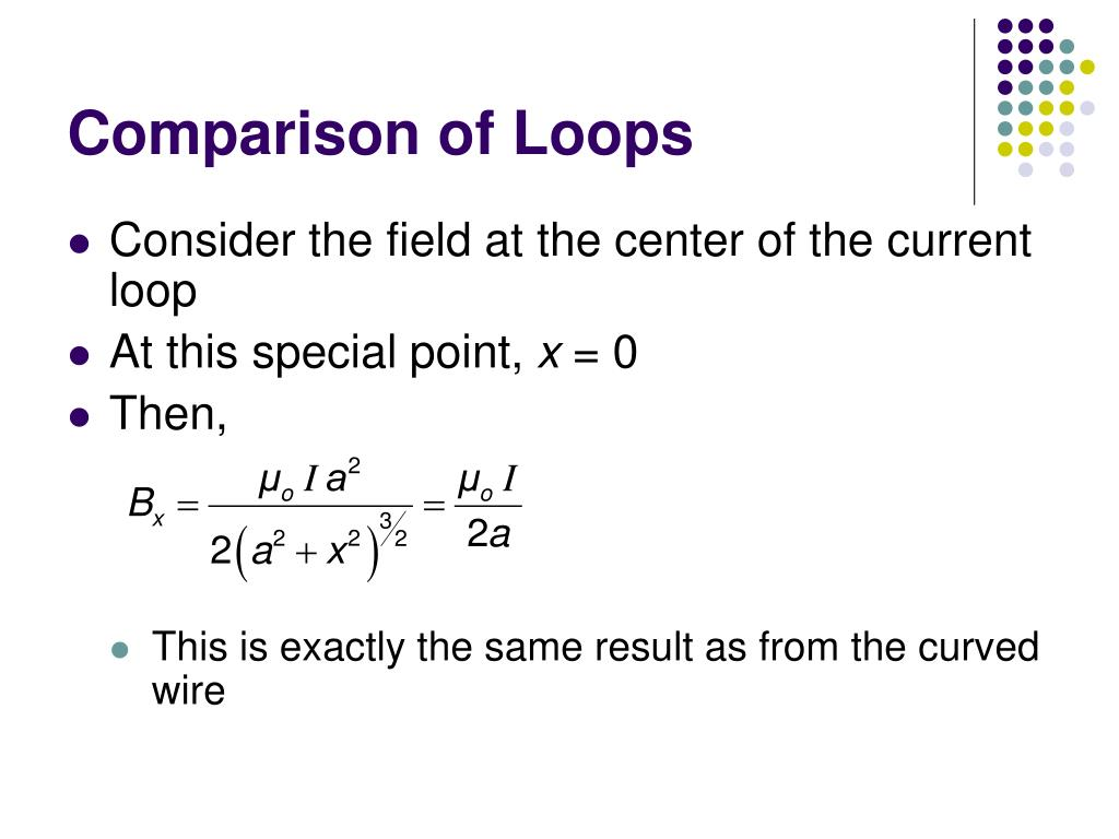 Comparison of Loops