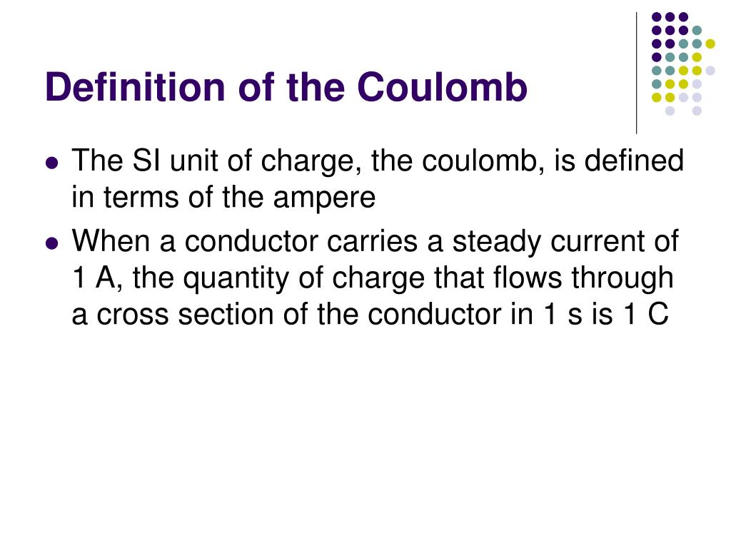 Definition of the Coulomb