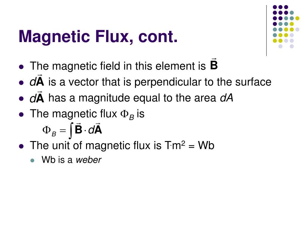 Magnetic Flux, cont.