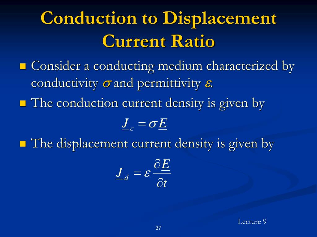 Conduction to Displacement Current Ratio
