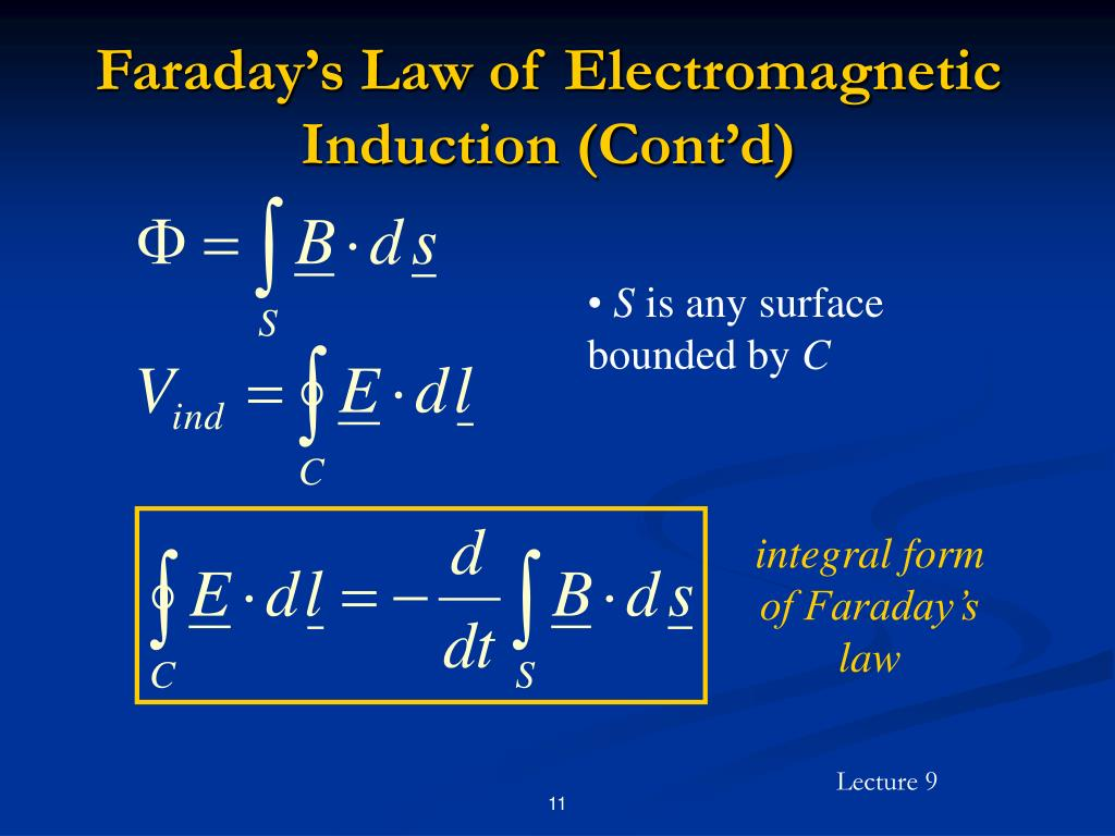 Faraday's Law of Electromagnetic Induction (Cont'd)