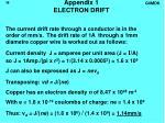 appendix 1 electron drift