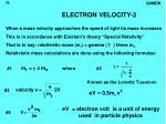electron velocity 225