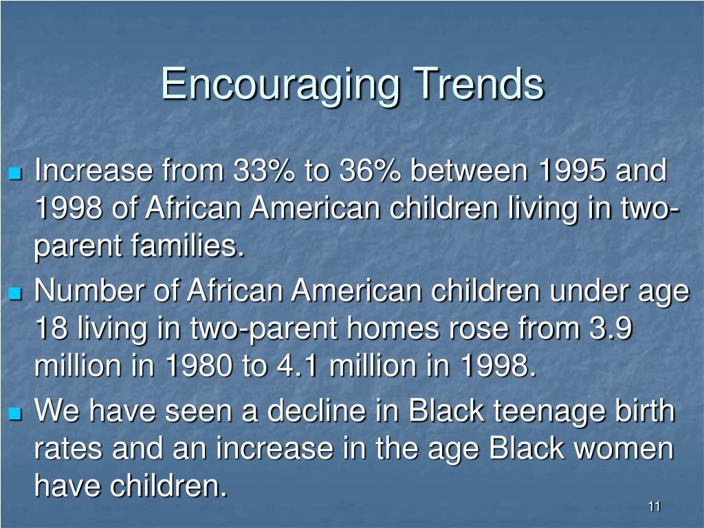 Encouraging Trends