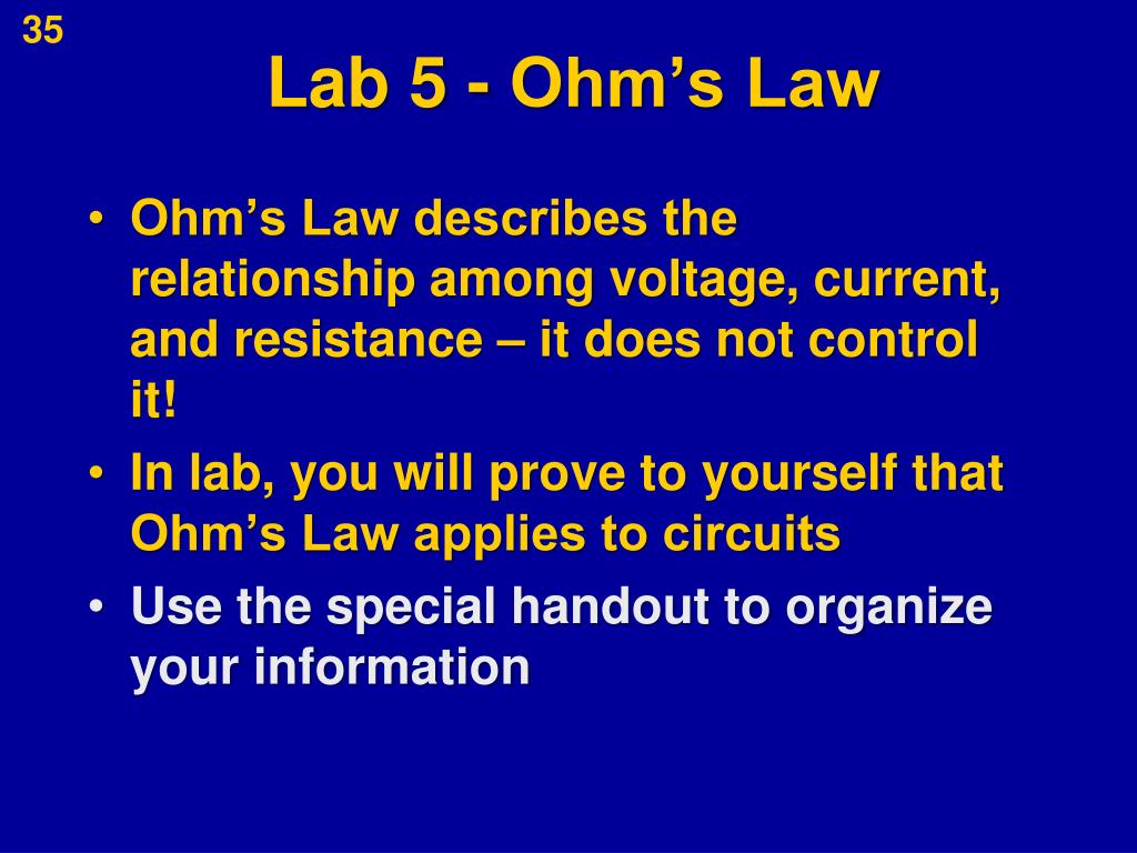 Lab 5 - Ohm's Law