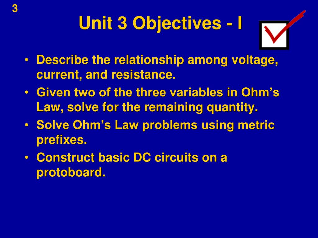 Unit 3 Objectives - I
