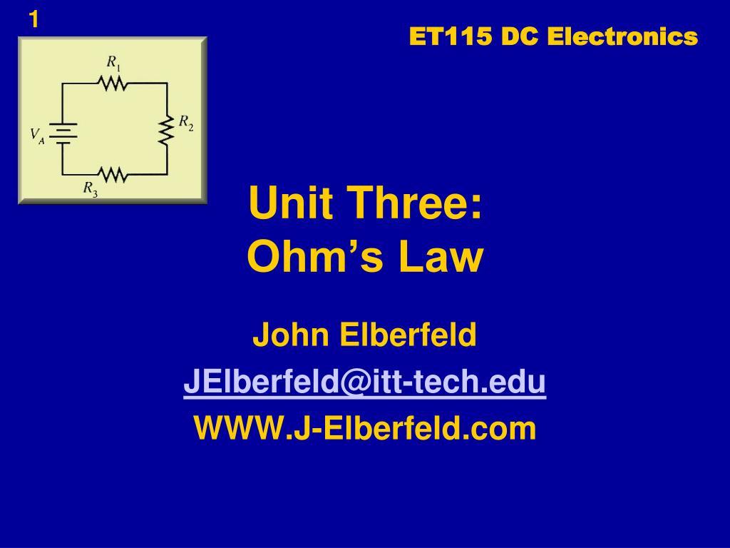 ET115 DC Electronics