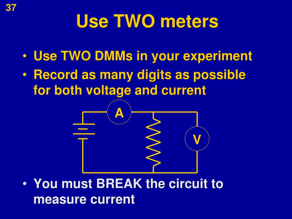 Use TWO meters