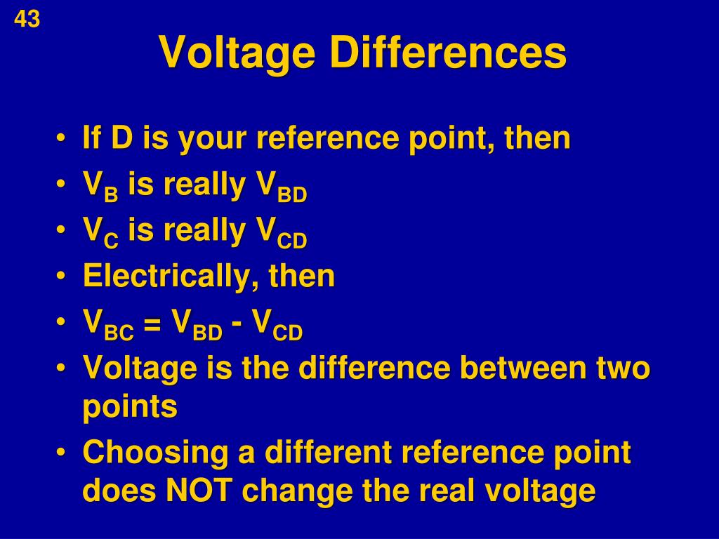 Voltage Differences