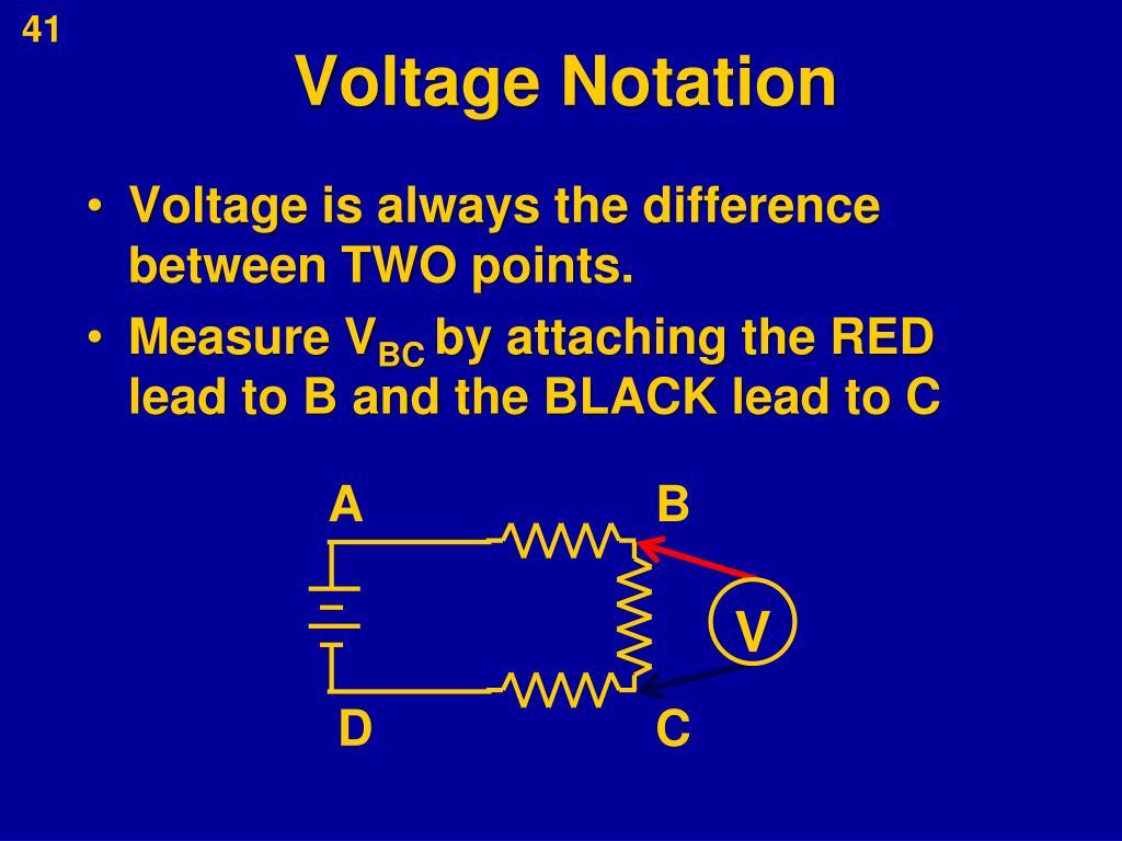 Voltage Notation