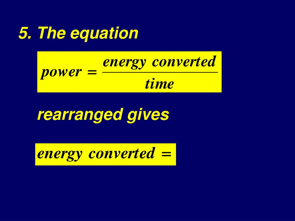 5. The equation
