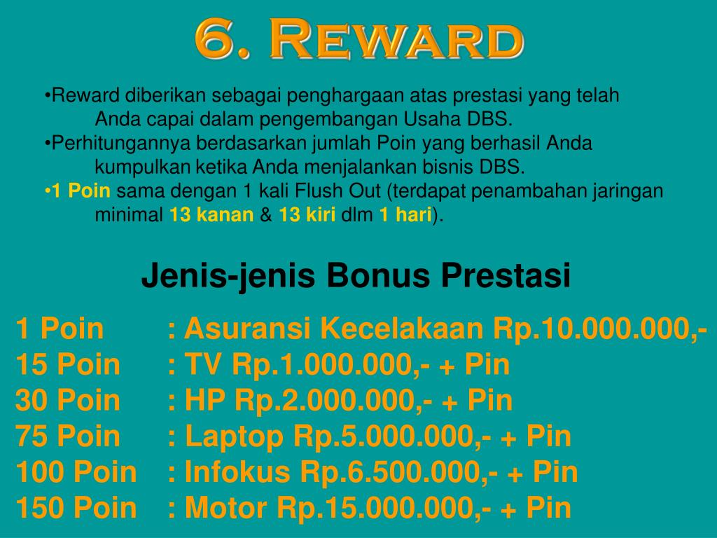6. Reward