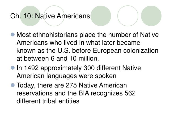Ch 10 native americans