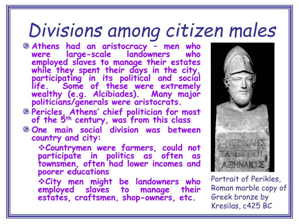 Divisions among citizen males