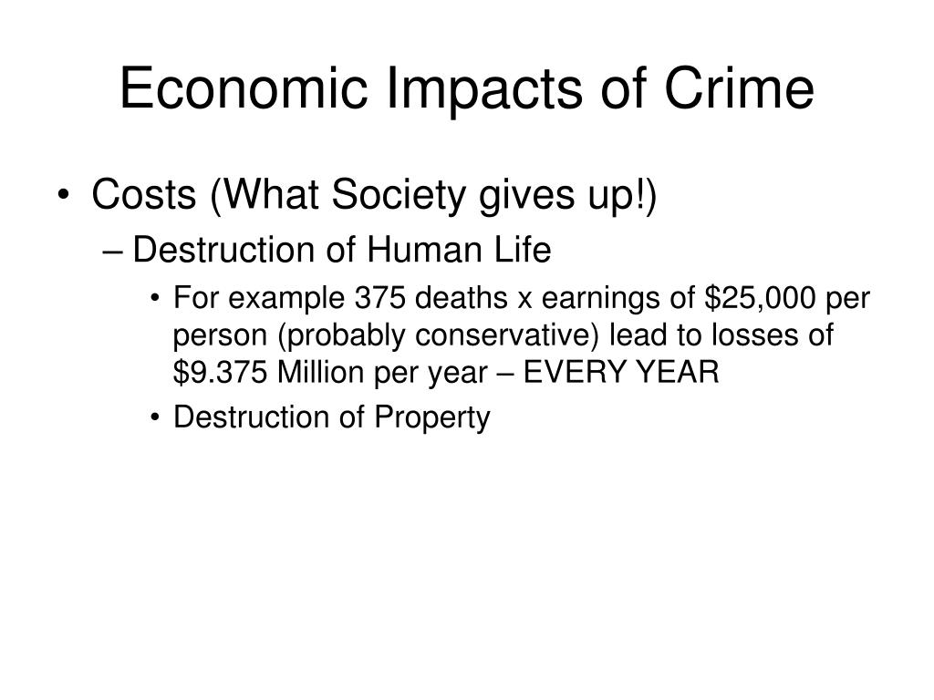 Economic Impacts of Crime