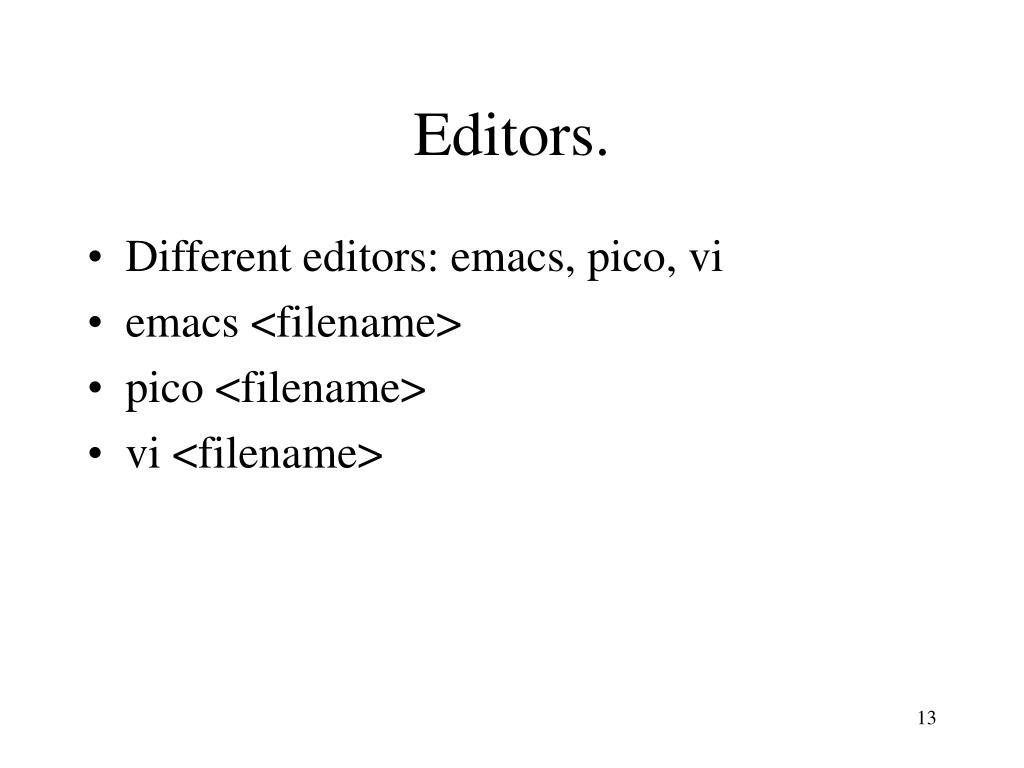 Editors.