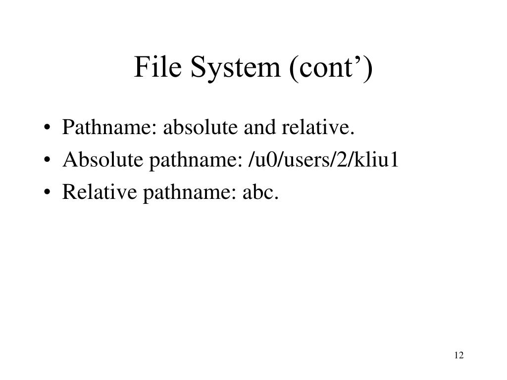 File System (cont')