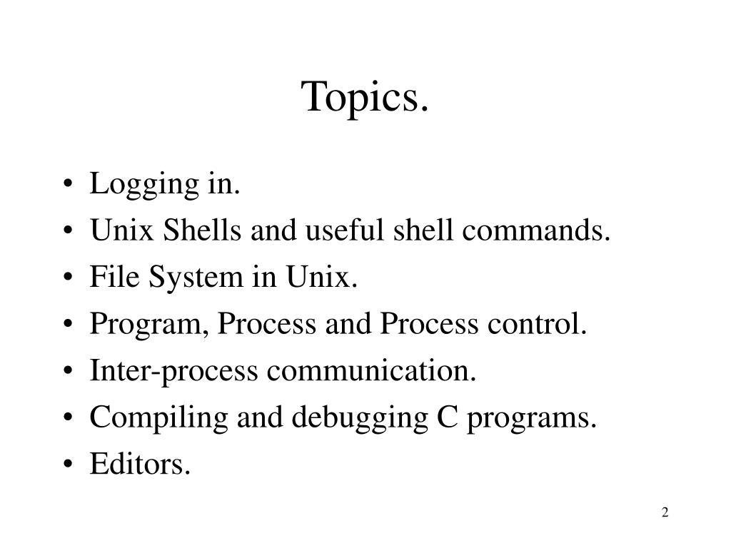 Topics.