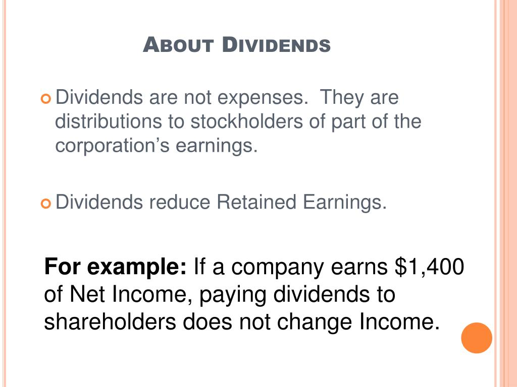 About Dividends