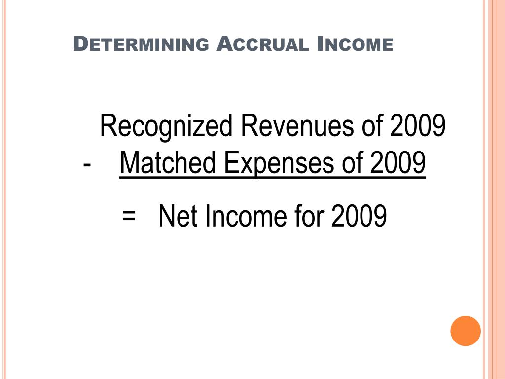 Determining Accrual Income