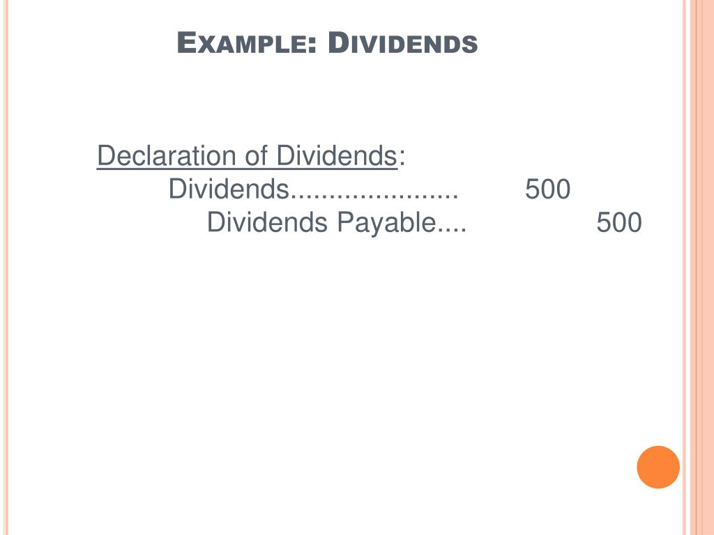 Example: Dividends
